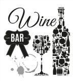 Illustration des Vektors auf Lager für Weinbar Stockfotografie