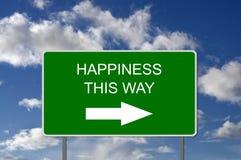 Illustration des Verkehrsschildes Glück zeigend Lizenzfreies Stockbild