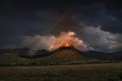 Illustration des Vulkans Lizenzfreie Stockfotografie