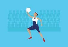 Illustration des weiblichen Basketball-Spielers konkurrierend im Ereignis lizenzfreie abbildung