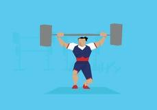 Illustration des weiblichen Weightlifter konkurrierend im Ereignis vektor abbildung