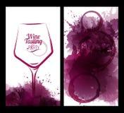 Illustration des Weinglases mit Flecken Lizenzfreie Abbildung
