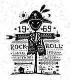Illustration des Weinleseschmutzaufklebers mit Lizenzfreie Stockfotos