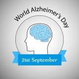 Illustration des Welt-Alzheimer-` s Tageshintergrundes Stockfotografie