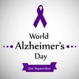 Illustration des Welt-Alzheimer-` s Tageshintergrundes Stockfoto