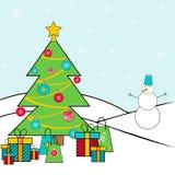 Illustration des Wintertages vor Weihnachten stock abbildung