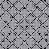 IQ sign diamond shape grey symmetry seamless pattern. This illustration is design abstract IQ game element with diamond shape in grey symmetry seamless pattern stock illustration