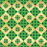 Ramadan shape green symmetry seamless pattern stock illustration