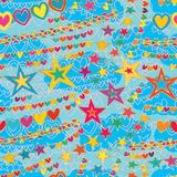 Star love line wind style seamless pattern. This illustration is design abstract tinnitus wind blowing like no silent but nope noisy with star and love line free Stock Photography