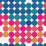 Circle pattern cut horizontal line style group seamless pattern. This illustration is design circle pattern cut with horizontal line style and group in seamless Royalty Free Stock Photography