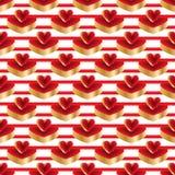 3d bright color red gold platform seamless pattern vector illustration
