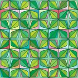 Diamond shape four star leaf green symmetry seamless pattern. This illustration is design diamond shape four leaf with star in green color and pastel colorful Royalty Free Stock Photos