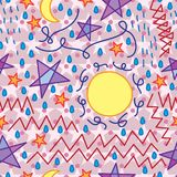 Worry abstract seamless pattern stock illustration