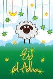 Eid sheep hang card Royalty Free Stock Photos