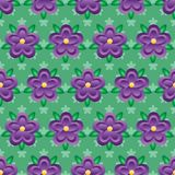 Flower purple gradient batik style seamless pattern. This illustration is design and drawing flower purple gradient with batik style in seamless pattern royalty free illustration