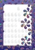 Paisley simply shape purple frame Stock Illustration