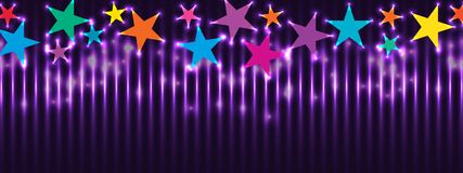 Star colorful top banner effect RGB royalty free illustration