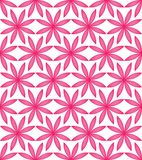 Flower pink full symmetry seamless pattern. This illustration is design flower pink full symmetry in seamless pattern on white color background stock illustration