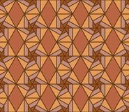 Hexagon line style star brown seamless pattern Stock Photography