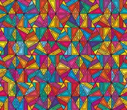 Hexagon line style colorful square no square seamless pattern Stock Photos