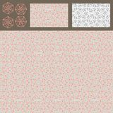 Hexagon line style triangle no square pink grey set seamless pattern Stock Photography