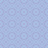 Hexagon star window style symmetry seamless pattern. This illustration is design hexagon star window style in symmetry seamless pattern purple colors background royalty free illustration