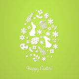 Illustration for design invitation and greeting card with title `Happy Easter` and  Egg shape. Illustration for design invitation and greeting card with title ` Royalty Free Stock Photography