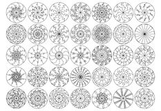 Mandala line ray set Royalty Free Stock Photos