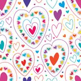 Love line many colorful seamless pattern. This illustration is design love line many colorful with seamless pattern on white color background Stock Image