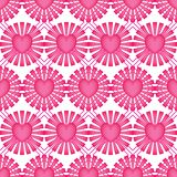 Love ray pink diamond shape symmetry seamless pattern. This illustration is design love ray pink with diamond shape symmetry background seamless pattern on white stock illustration