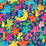 Sky song seamless pattern Royalty Free Stock Images