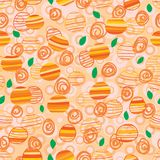 Orange stripe is orange seamless pattern. This illustration is design orange stripe with abstract orange in stylish seamless pattern Stock Photography
