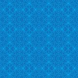 Ramadan moon diamond shape connect blue seamless pattern royalty free illustration