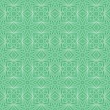 Ramadan star line symmetry green seamless pattern. This illustration is design Ramadan star line symmetry in green color background seamless pattern royalty free illustration