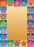 Star flower cute face symmetry frame Royalty Free Stock Images
