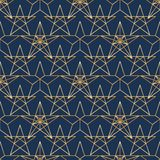 Star gold line symmetry seamless pattern