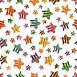 Star ribbon stripe colorful seamless pattern vector illustration