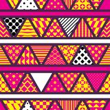 Triangle pattern cut black white color stylish seamless pattern. This illustration is design stylish triangle pattern cut with black, white and colors stylish in Stock Image