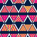 Triangle pattern cut style group M W V seamless pattern. This illustration is design triangle pattern cut style group with abstract feel free M W V in seamless Royalty Free Stock Images