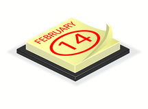 An illustration of a desk calender Stock Photography