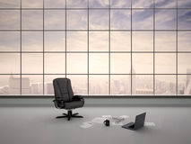 Illustration of desk chair in an empty office Royalty Free Stock Images