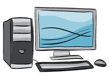 Illustration of desktop computer Royalty Free Stock Photos