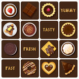 Illustration of dessert and baked goods Stock Photography