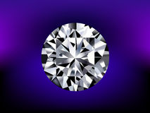 Illustration of detailed diamond. In mystery background Royalty Free Stock Photo