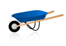 Illustration of a detailed wheelbarrow Stock Photos