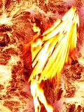 Illustration of the devil character in fire. 3d rendering Stock Photo
