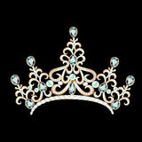 Illustration diadem feminine with brilliant gems Stock Photography