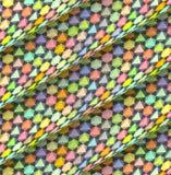Diagonal tiled multiple color roll shape Stock Photo
