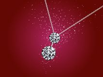 Illustration of diamond necklace royalty free stock photography