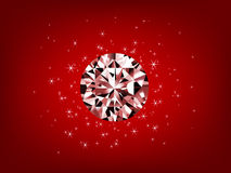 Illustration of diamond with shiny stars Royalty Free Stock Photography